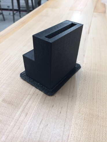 Speaker prototype - interior is shaped to optimize sound